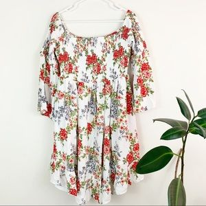 torrid | floral off the shoulder smock dress (1x)